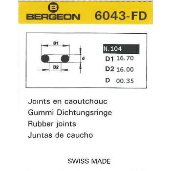 JUNTAS REDONDAS CAUCHO BERGEON EXTRAFINAS 6043-FD [2-1543-0-104]