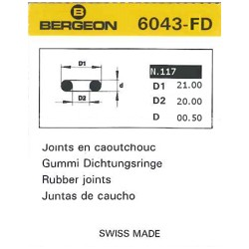 JUNTAS REDONDAS CAUCHO BERGEON EXTRAFINAS 6043-FD [2-1543-0-117]