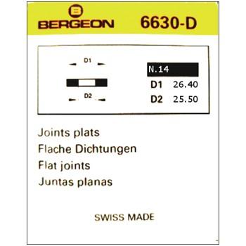 JUNTAS PLANAS CAUCHO BERGEON 6630-D [2-1542-0-14]