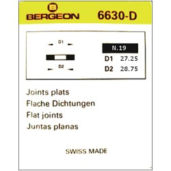 JUNTAS PLANAS CAUCHO BERGEON 6630-D [2-1542-0-19]