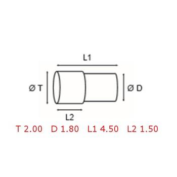 12 TUBOS DE PROTECCION [2-1562-0-18]