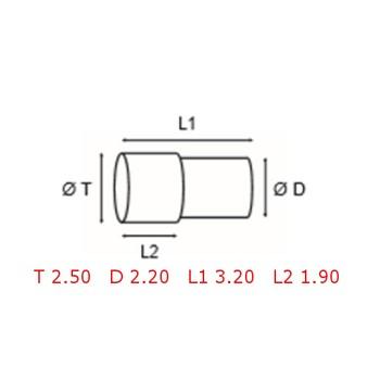 12 TUBOS DE PROTECCION [2-1562-0-9]
