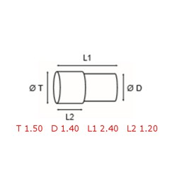 12 TUBOS DE PROTECCION [2-1562-0-34]