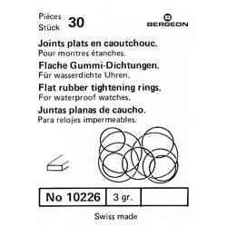 SURTIDO BERGEON 30 JUNTAS PLANAS CAUCHO [1-10226-BER-0]