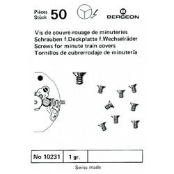 SURTIDO BERGEON 50 TORNILLOS CUBRERODAJE MINUTERIA [1-10231-BER-0]