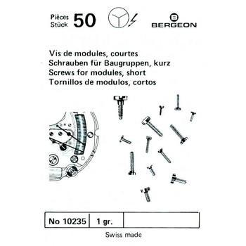 SURTIDO BERGEON 50 TORNILLOS CORTOS DE MODULO [1-10235-BER-0]