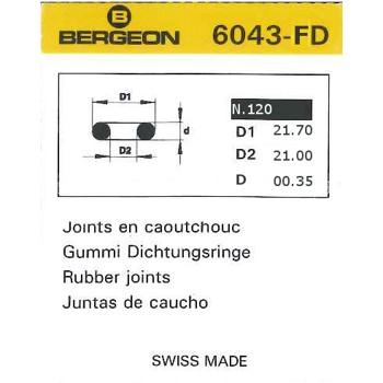 JUNTAS REDONDAS CAUCHO BERGEON EXTRAFINAS 6043-FD [2-1543-0-120]