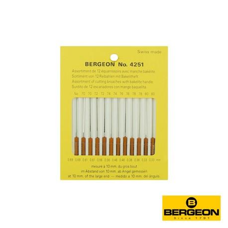 SURTIDO ESCARIADORES BERGEON 4251