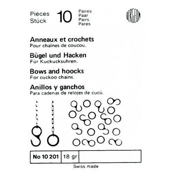 SURTIDO BERGEON 10 PARES ANILLAS Y GANCHOS CU-CUT