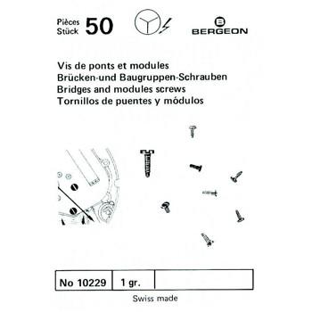SURTIDO BERGEON 50 TORNILLOS PUENTE Y MODULO