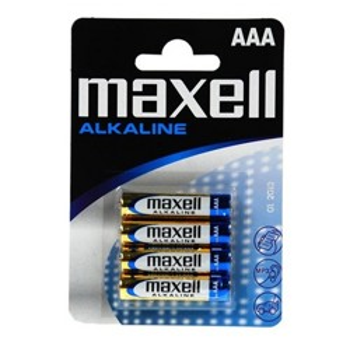 PACK DE 4 PILAS MAXELL LR03 ALCALINAS