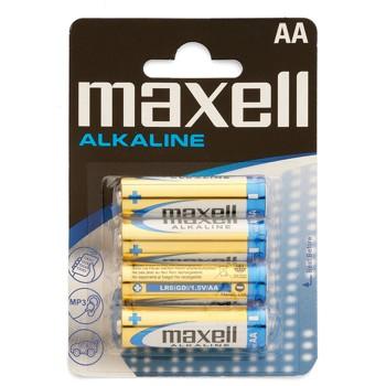 PACK DE 4 PILAS MAXELL LR6 ALCALINAS