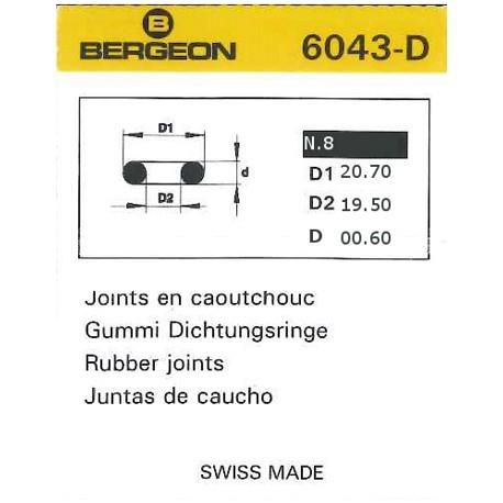 JUNTAS REDONDAS CAUCHO BERGEON 6043-D